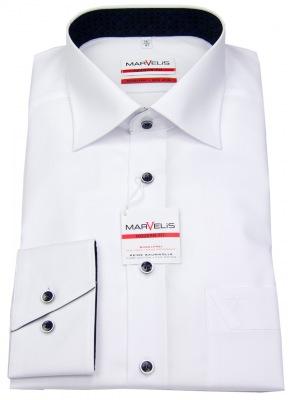 Bügelfreies Hemd in Slim Fit von Marvelis