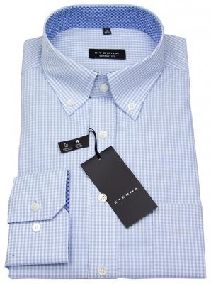 Button Down Hemd hellblau / weiß kariert von Eterna