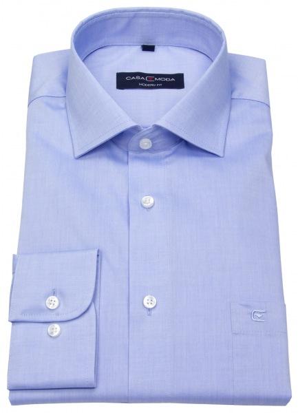 Casamoda Modern Fit Herrenhemd - extra langer Arm von 72cm mit verlängertem Rumpf