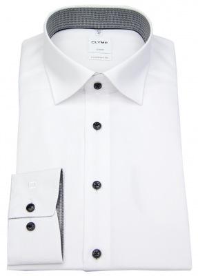 Comfort Fit Hemd von OLYMP in weiß mit Kontrastknöpfen