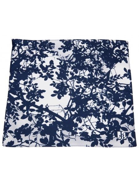 Seiden-Einstecktuch von Jacques Britt in blau / weiß