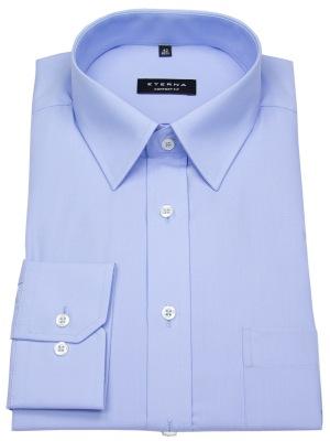 Eterna Comfort Fit Hemd blau mit Kentkragen