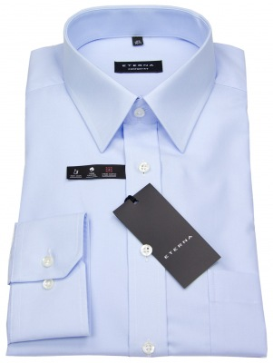 Comfort Fit Hemd von Eterna hellblau mit Kentkragen