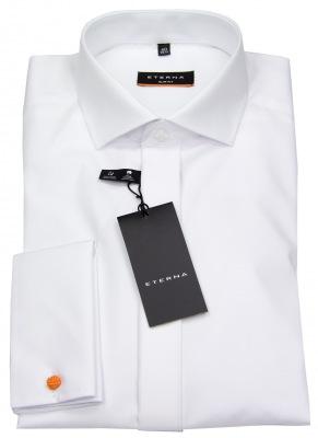Slim Fit Hemd von Eterna weiß mit Kentkragen und Umschlagmanschette