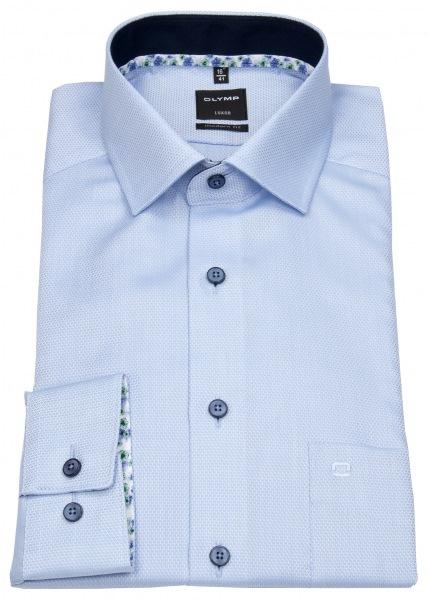 Extra langes OLYMP Hemd mit Überlänge und extra langen Armen Modern Fit in hellblau