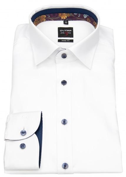 OLYMP Level 5 Herrenhemd mit extra langen Ärmeln von 68cm - Passform Body Fit