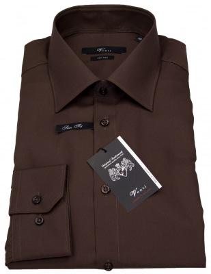 Braunes Hemd von Venti in Slim Fit mit Kentkragen