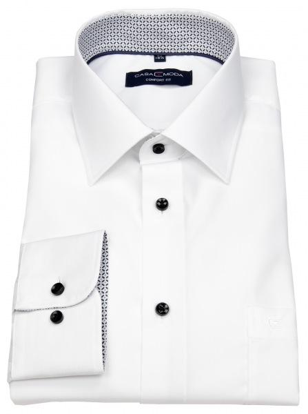 günstiges Comfort Fit Hemd in Übergröße und mit Bauchweite von Casa Moda in weiß