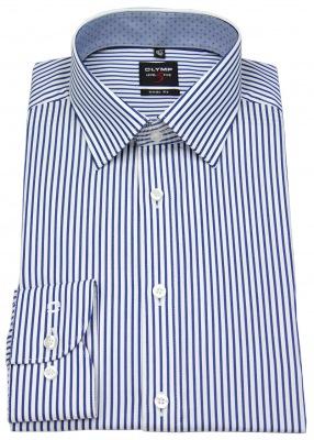 Hemd mit Kentkragen von OLYMP Level 5 in blau / weiß