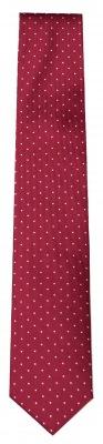 Krawatte von Olymp Slimline in rot mit weissen Punkten