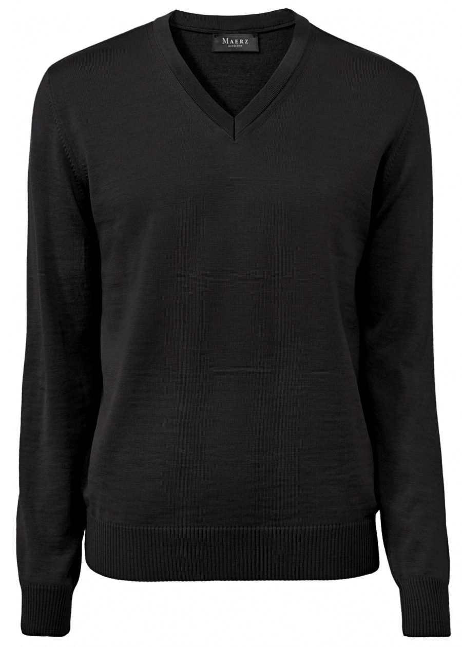 MAERZ Muenchen Pullover Comfort Fit Rundhals Struktur grün 453301 278
