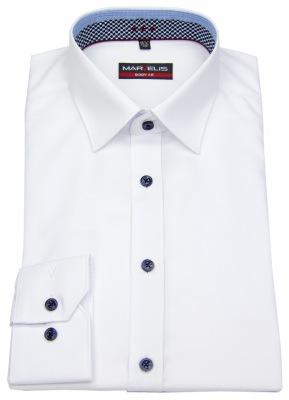 stark tailliertes Marvelis Body Fit / Slim Fit Business Hemd weiß