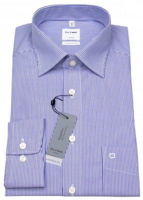 Olymp Business Hemd Comfort Fit blau / weiß gestreift Artikelnr. 0272 64 15