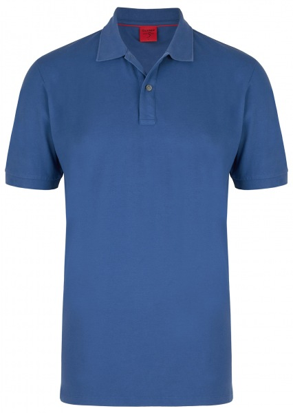 OLYMP Polo Shirt Level 5 tailliert in blau