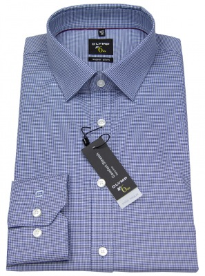 OLYMP No Six 6 Hemd Super Slim Fit blau / weiß