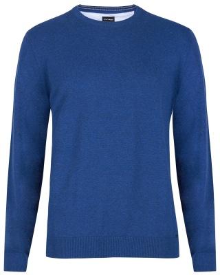 dunkelblauer Pullover von OLYMP mit Rundhals-Ausschnitt
