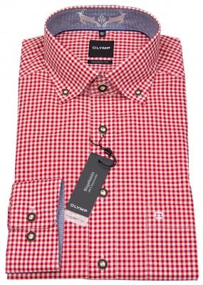 Rot / Weiß kariertes Trachtenhemd - ideal fürs Oktoberfest