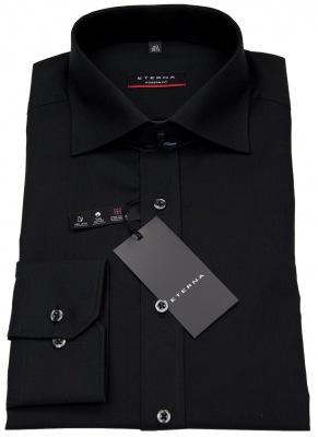 schwarzes Hemd von Eterna in Modern Fit