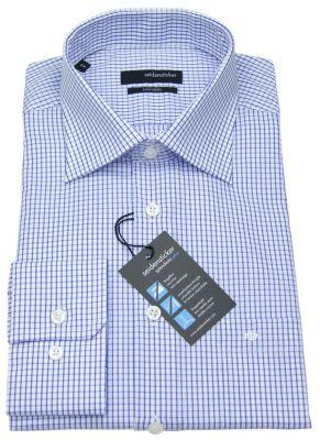 Seidensticker Splendesto Hemd blau / weiß mit Kentkragen