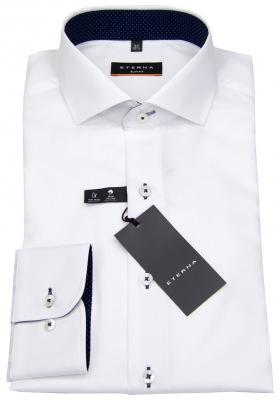 Slim Fit Hemd von Eterna mit Kontrastknöpfen
