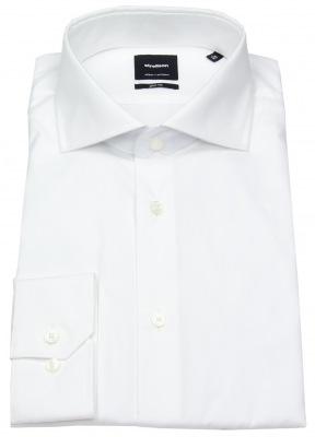 Strellson Hemd Slim Fit mit Haifischkragen in weiß