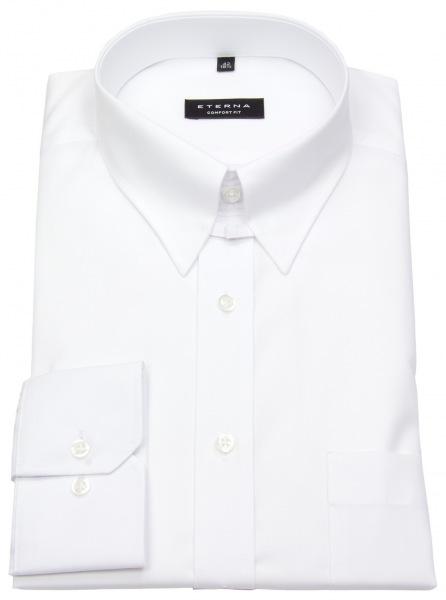 Tabkragen Hemd von Eterna in Comfort Fit - Farbe: weiß