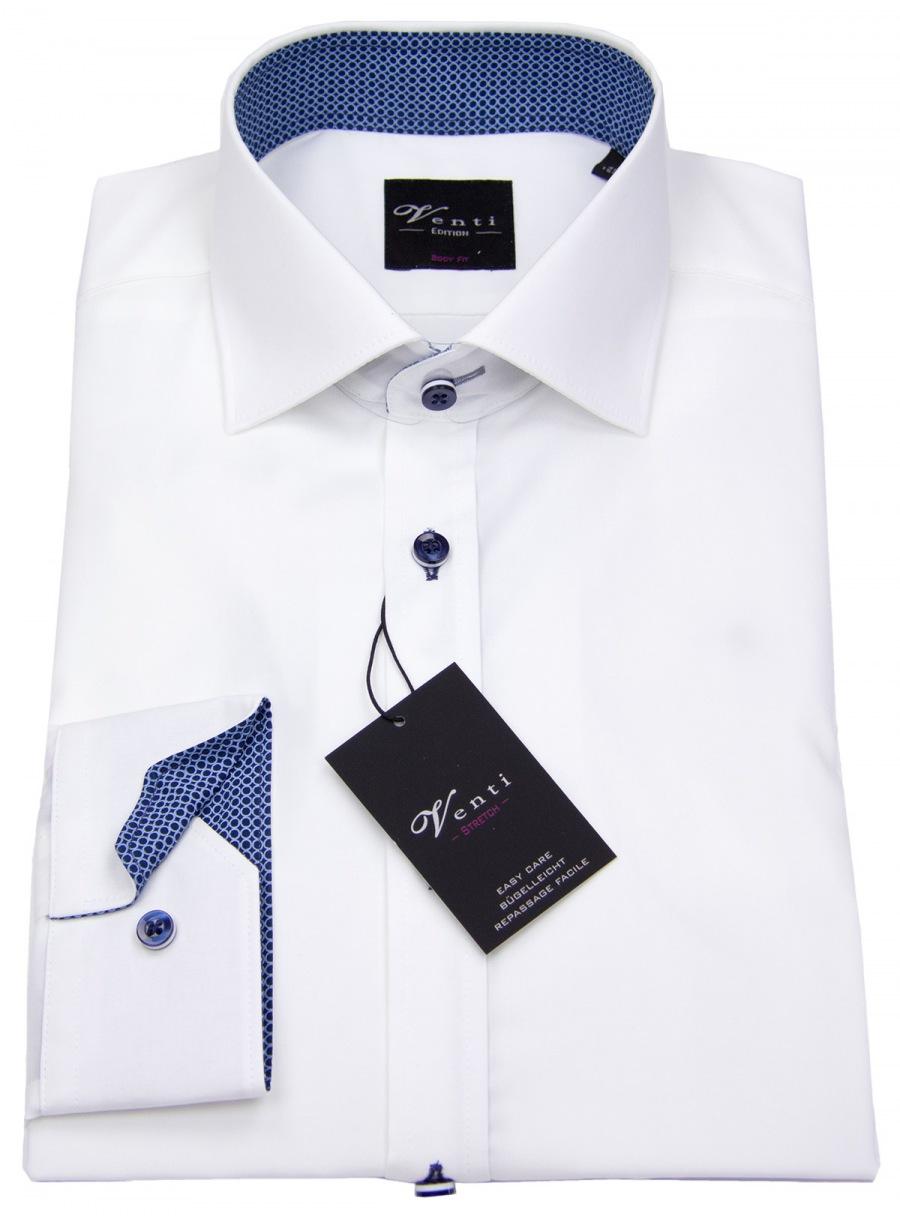 Comfort Fit Herren Hemd langarm NEU Body Strech schwarz Venti Edition