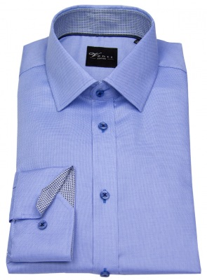 Venti Slimfit Hemd in hellblau - bügelfrei